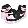 NIKE AIR JORDAN 1 RETRO HI OG black/crimson tint-white 555088-081画像