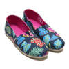 TOMS ALPARGATA Navy Tropical Leaves 10013524-NVY画像