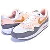 NIKE AIR MAX 1(GS) white/metallic gold-gunsmoke 807605-104画像