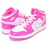 NIKE AIR JORDAN 1 MID(GS) hyper pink/white-white 555112-611画像