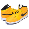 NIKE AIR JORDAN 1 MID(GS) university gold/black-white 554725-700画像