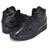 NIKE WMNS AIR JORDAN 1 MID black/black-black BQ6472-002画像