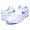 NIKE AIR MAX 1 SE white/photo blue-lime blast AO1021-101画像