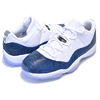 NIKE AIR JORDAN 11 RETRO LOW LE SNAKE white/black-navy CD6846-102画像