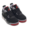 NIKE JORDAN 4 RETRO (PS) BLACK/FR RED-CMNT GRY-SMMT WHT BQ7669-060画像