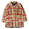 Supreme × Jean Paul Gaultier Double Breasted Plaid Faux Fur Coat OFF-WHITE画像