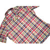 INDIVIDUALIZED SHIRTS SHORT SLEEVE ATHLETIC FIT CAMP COLLAR CHECK SHIRTS red multi画像