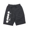 DIADORA SWEAT HALF PANTS BLACK DGC9415-99画像