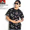 BEN DAVIS RETRO ALLOVER S/S TEE -BLACK- C-9580025画像