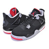 NIKE AIR JORDAN 4 RETRO(GS) BRED black/fire red-cement grey 408452-060画像