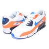 NIKE AIR MAX 90 LTR(GS) white/photo blue-total orange 833412-116画像