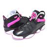 NIKE JORDAN 6 RINGS(GS) black/hyper pink-white 323399-061画像