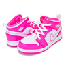 NIKE JORDAN 1 MID(TD) hyper pink/white-white 644507-611画像
