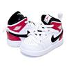 NIKE JORDAN 1 MID(TD) white/black-gym red 640735-116画像