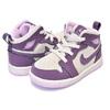 NIKE AIR JORDAN 1 MID(TD) pro purple/desert sand 644507-500画像