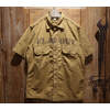 """FREEWHEELERS UNION SPECIAL OVERALLS """"MILITARY UTILITY S/S SHIRT """"MUROC DRY LAKE"""""""" Vintage Two Ply Yarn Twill Clear Finish 1923016画像"""