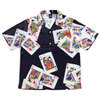 APPLEBUM King & Queen Aloha S/S Shirt BLACK画像