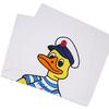 Noah 19SS Captain Duck Beach Towel WHITE画像
