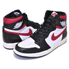 NIKE AIR JORDAN 1 RETRO HI OG black/gym red-white-sail 555088-061画像