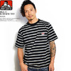 BEN DAVIS MULTI BORDER TEE -BLACK- I-9580007画像