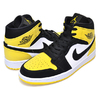 "NIKE AIR JORDAN 1 MID SE ""YELLOW TOE"" black/black-tour yellow-white 852542-071画像"