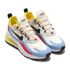 NIKE W AIR MAX 270 REACT PHANTOM/BLACK-LIGHT BLUE-UNIVERSITY RED AT6174-002画像