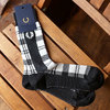 FRED PERRY TARTAN MIDLE SOCKS OFF WHITE F19924画像