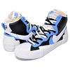 NIKE × sacai BLAZER MID BLACK/WHITE-UNIVERSITY BLUE BV0072-001画像