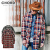 CHORD NUMBER EIGHT HEAVY TWILL CHECK LONG SHIRT CH01-01K5-SL03画像