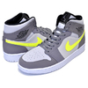 NIKE AIR JORDAN 1 MID gunsmoke/volt-neutral grey 554724-072画像