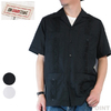 MYCUBANSTORE Short Sleeve Guayabera Shirt with Embroidery MY190TC16011画像
