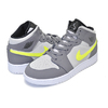 NIKE AIR JORDAN 1 MID (GS) gunsmoke/volt-neutral grey 554725-072画像
