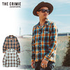 CRIMIE OPEN COLLAR CLASSIC CHECK SHIRT CR01-01K5-SL01画像