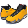 "NIKE AIR JORDAN 14 RETRO SE ""REVERSE FERRARI"" university gold/black BQ3685-706画像"