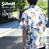 Schott HAWAIIAN SHIRT NY MAP STENCIL 3195041画像