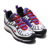 NIKE AIR MAX 98 WHITE/BLACK-PSYCHIC PURPLE 640744-110画像