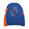 PUMA COLOUR BLOCK CREWSWEAT GALAXY BLUE 596412-39画像