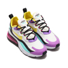 NIKE W AIR MAX 270 REACT WHITE/DYNAMIC YELLOW-BLACK-BRIGHT VIOLET AT6174-101画像