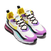 NIKE AIR MAX 270 REACT WHITE/DYNAMIC YELLOW-BLACK-BRIGHT VIOLET AO4971-101画像