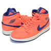 NIKE WMNS AIR JORDAN 1 MID turf orange/blue void CD7240-804画像