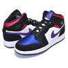 NIKE AIR JORDAN 1 MID SE(GS) black/field purple-white BQ6931-005画像