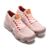 NIKE W AIR VAPORMAX FLYKNIT 3 SUNSET TINT/WHITE-BLUE FORCE-GYM RED AJ6910-602画像