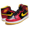 "NIKE AIR JORDAN 1 RETRO HI OG ""Highlight Reel"" ""Atlanta Hawks"" blk/g.red-u.gold 555088-017画像"