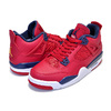 NIKE AIR JORDAN 4 RETRO(GS) FIVA gym red/obsidian-white 408452-617画像