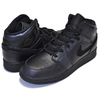 NIKE AIR JORDAN 1 MID(GS) black/black-black 554725-090画像