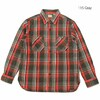 SUGAR CANE TWILL CHECK L/S WORK SHIRT SC28238画像