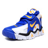 "NIKE AIR BARRAGE MID ""GOLDEN STATE WARRIORS"" WHITE/LASER ORANGE/RACER BLUE/BLACK AT7847-100画像"