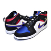 NIKE JORDAN 1 MID SE(PS) black/field purple-white BQ6932-005画像