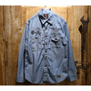 "TOYS McCOY MILITARY CHAMBRAY WORK SHIRT FELIX THE CAT ""FOLLOW THE ATTACK"" TMS1905画像"