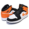 NIKE AIR JORDAN 1 MID(GS) SHATTERED BACKBOARD black/starfish-white 554725-058画像